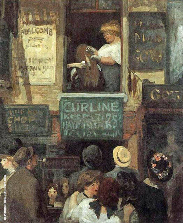 Hairdresser's Window 1907 Painting By John Sloan - Reproduction Gallery