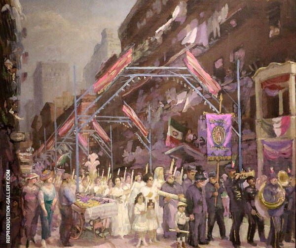 Italian Procession Painting By John Sloan - Reproduction Gallery