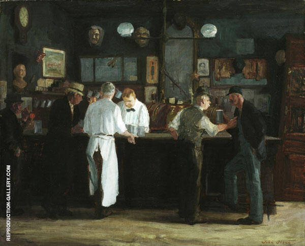 McSorley's Bar 1912 Painting By John Sloan - Reproduction Gallery