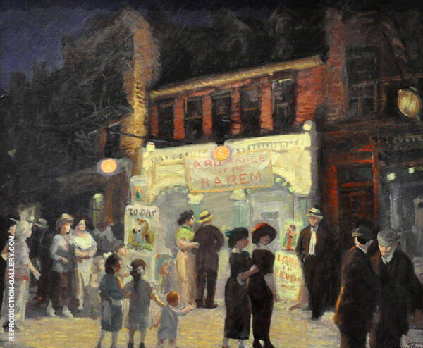 Movies 1913 Painting By John Sloan - Reproduction Gallery