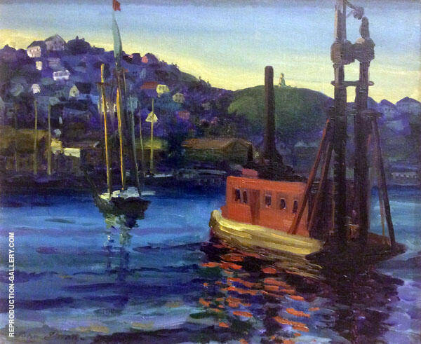 Pile Driver Painting By John Sloan - Reproduction Gallery