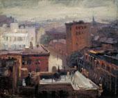 Rain Rooftops West 4th Street By John Sloan
