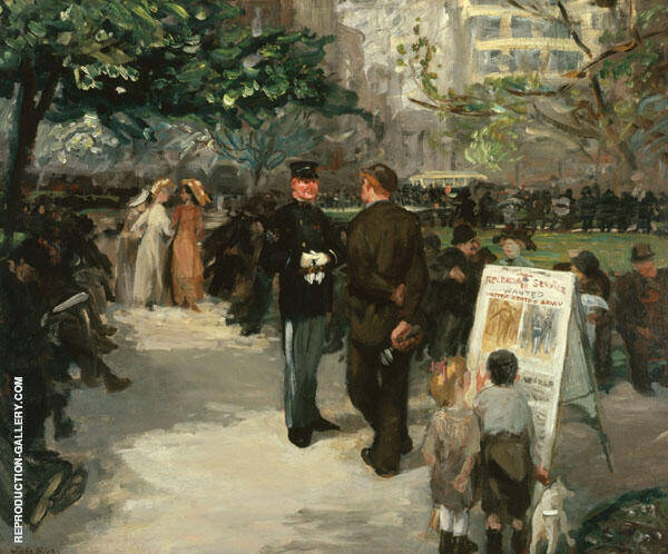 Recruiting in Union Square Painting By John Sloan - Reproduction Gallery