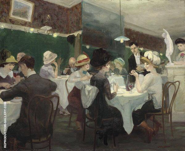 Renganeschi's Saturday Night 1921 Painting By John Sloan