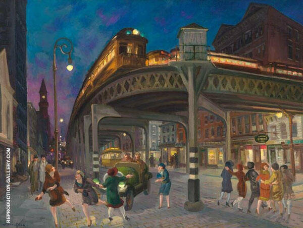 Sixth Avenue and Thirtieth Street New York City 1907 By John Sloan