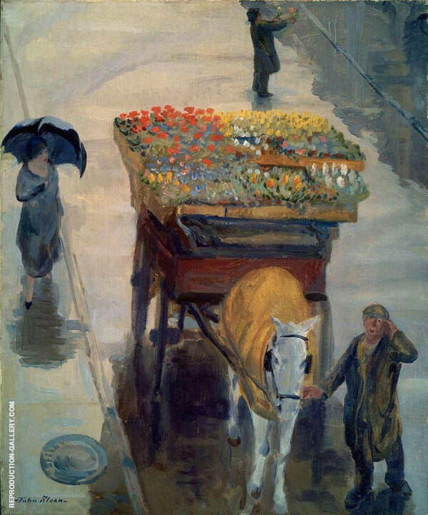 Spring Flowers 1924 Painting By John Sloan - Reproduction Gallery