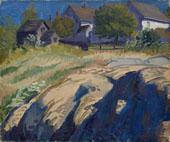 Sun and Shadow in Rocks By John Sloan
