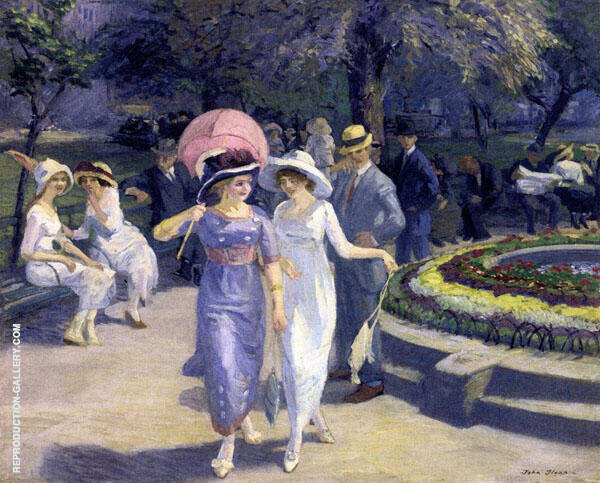 Sunday Afternoon in Union Square Painting By John Sloan