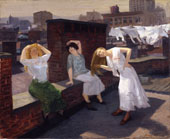 Sunday Women Drying Their Hair By John Sloan