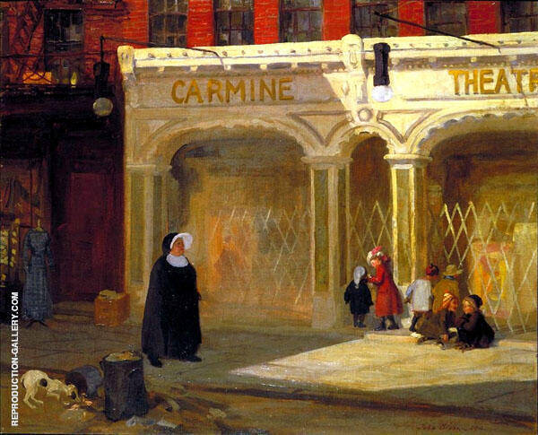 The Carmine Theater Painting By John Sloan - Reproduction Gallery