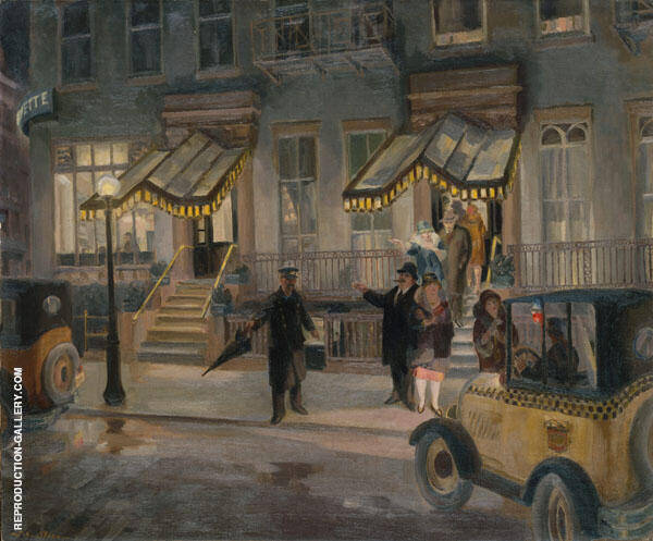 The Lafayette 1927 Painting By John Sloan - Reproduction Gallery