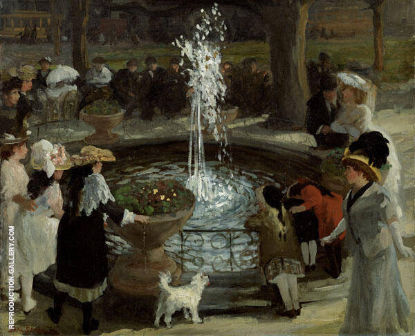 Throbbing Fountain Madison Square By John Sloan