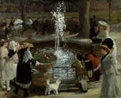 Throbbing Fountain Madison Square By John Sloan