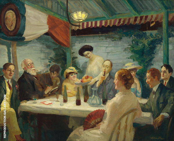 Yeats at Petitpas 1910 Painting By John Sloan - Reproduction Gallery