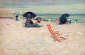 Beach at Atlantic City 1893 By Robert Henri