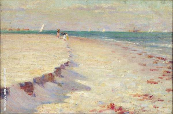 Curve of Beach Atlantic City By Robert Henri