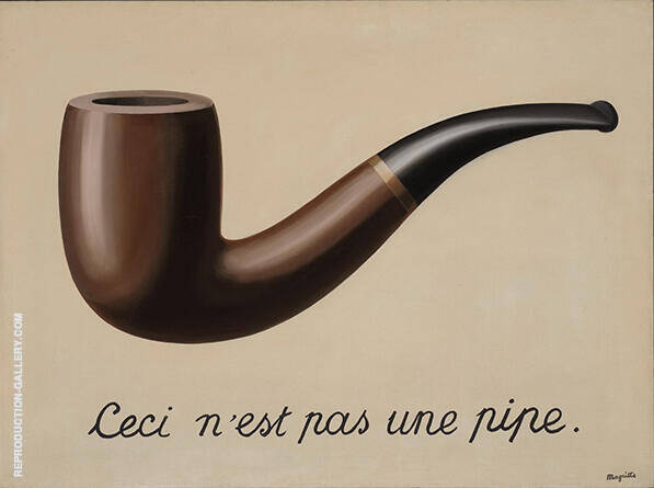 Treachery of Images c1929 By Rene Magritte