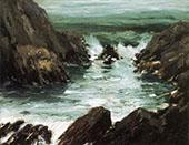 Marine with Rocks 1909 By Robert Henri