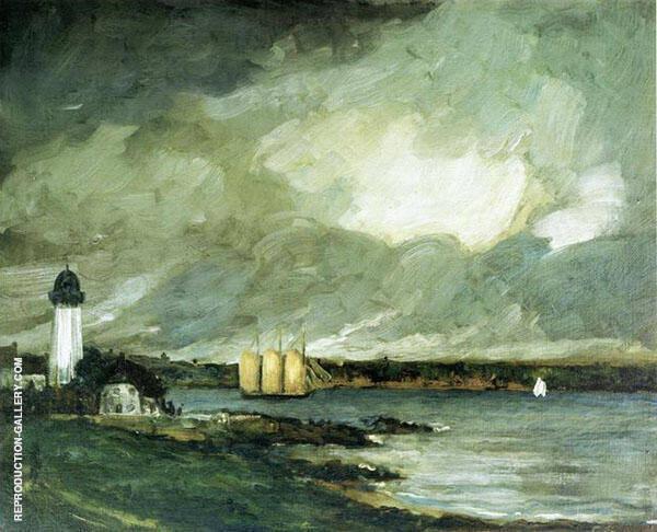 Pequot Light House Connecticut Coast 1902 By Robert Henri