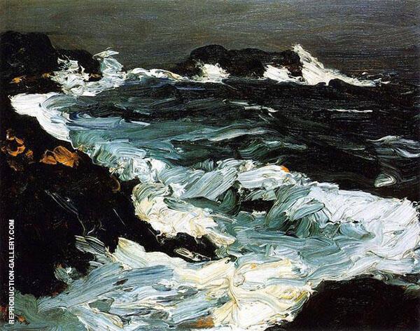Rough Seas near Lobster Point 1903 By Robert Henri