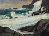Seascape on The Rocks By Robert Henri