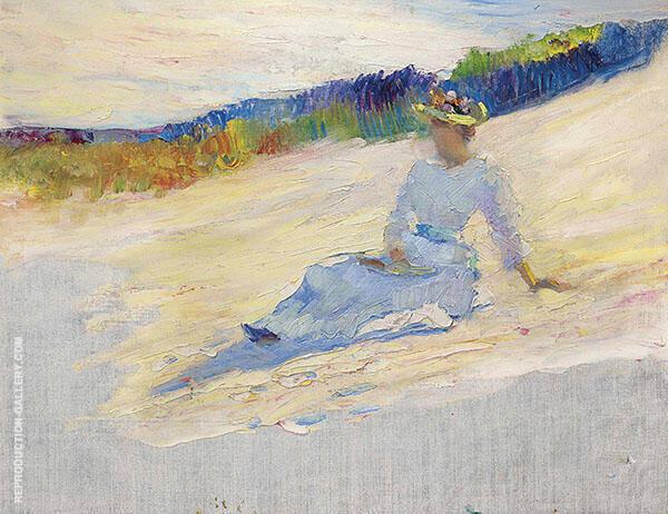 Sunlight Girl on Beach Aavalon By Robert Henri