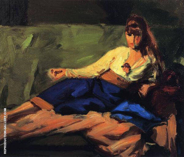 The Lounge Figure on a Couch 1916 By Robert Henri