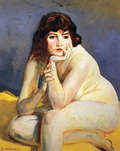 The Model Nude 1915 By Robert Henri