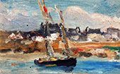 Two Masted Schooner Concarneau 1899 By Robert Henri