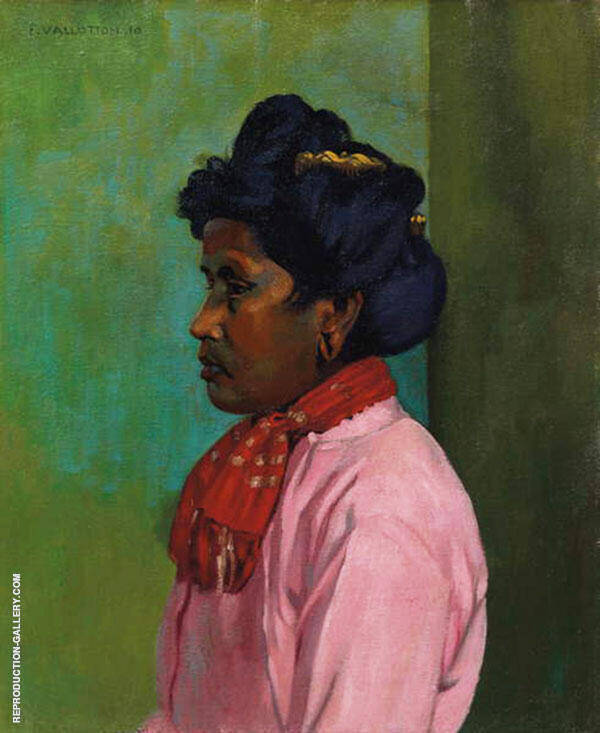 Black Woman with Pink Blouse 1910 By Felix Vallotton