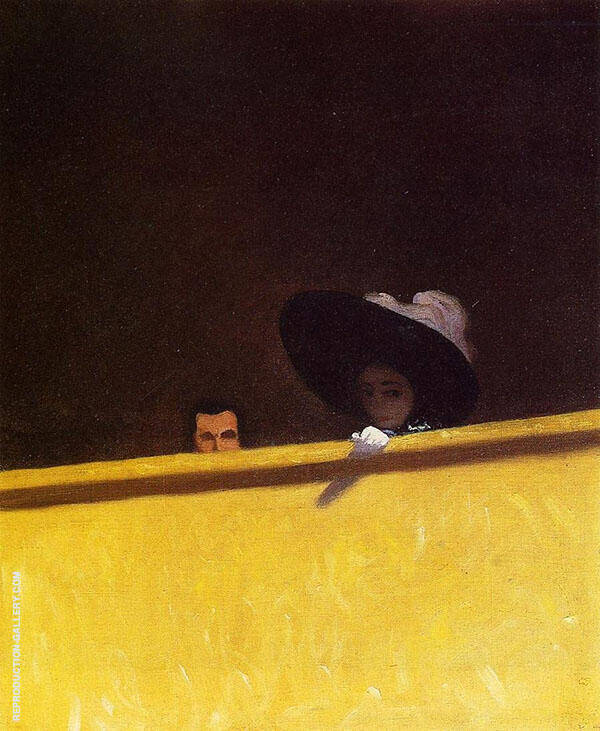 Box Seats at The Theater The Gentleman and The Lady 1909 By Felix Vallotton