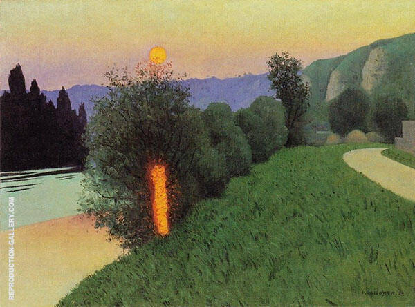 Evening in Andelys 1924 By Felix Vallotton