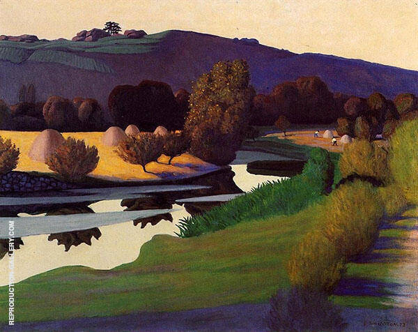 Evening on The Loire By Felix Vallotton