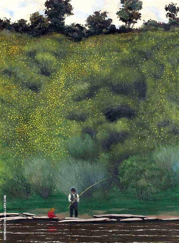 Flowering Broom Avallon By Felix Vallotton