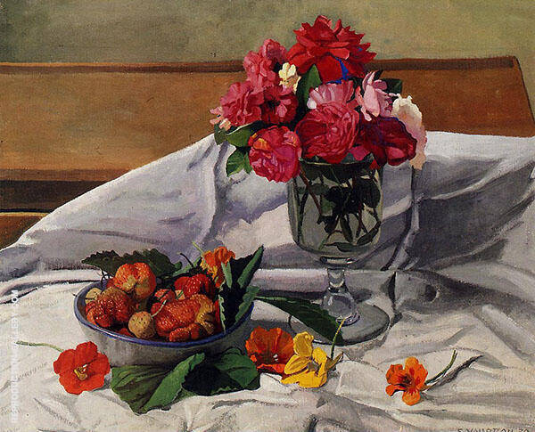 Flowers and Strawberries 1920 By Felix Vallotton