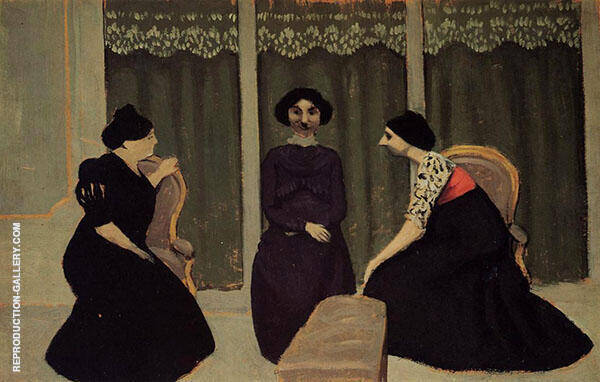 Gossip 1902 By Felix Vallotton
