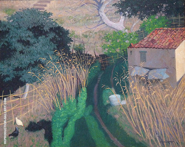 House and Reeds c1923 By Felix Vallotton