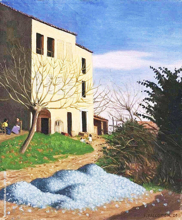 House in The Sunlight Blue Pebbles By Felix Vallotton