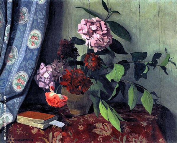 Hydrangea and Poppies By Felix Vallotton