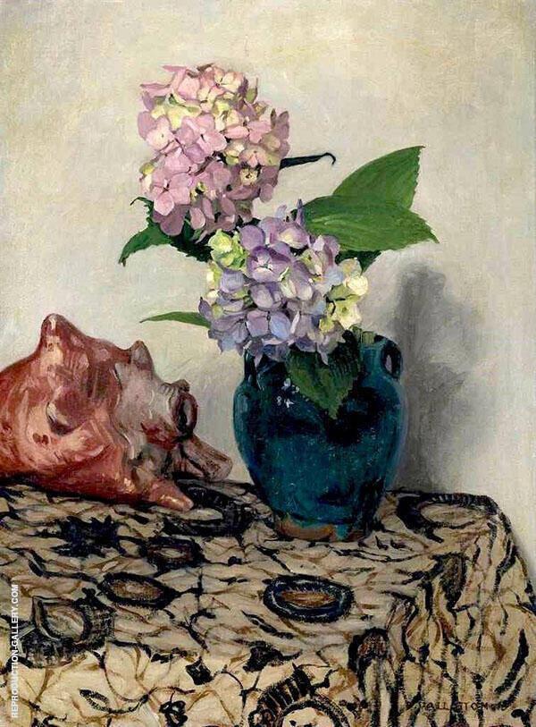 Hydrangeas with Shell By Felix Vallotton