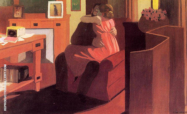 Interior with Couple and Screen 1898 By Felix Vallotton