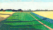 The Fields The Red Cross Plateau By Felix Vallotton