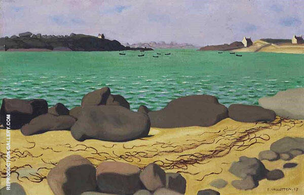 The Harbor at Ploumanach By Felix Vallotton