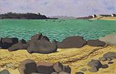 The Harbor at Ploumanach By Felix Vallotton