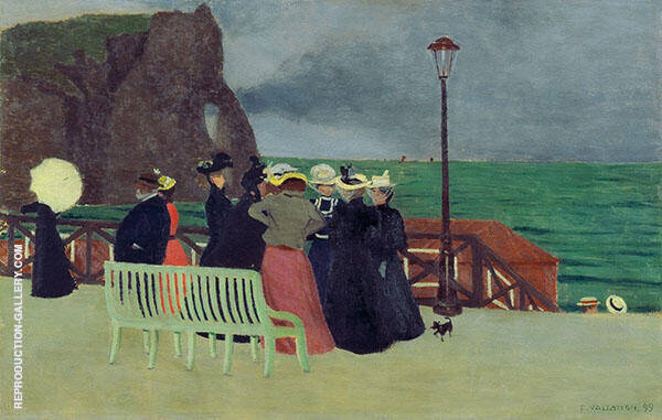 The Promenade at Etretat 1899 By Felix Vallotton