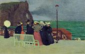The Promenade at Etretat 1899 By Felix Vallotton