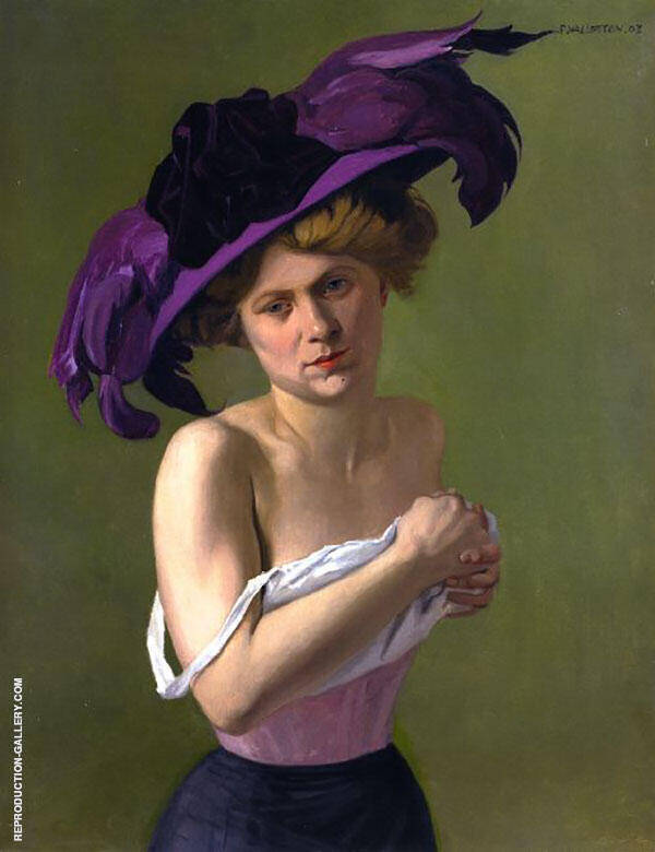 The Purple Hat By Felix Vallotton