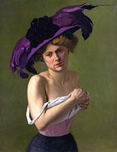 The Purple Hat By Felix Vallotton