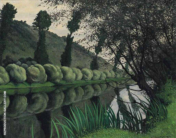 The Seine Lined with Willows Tournedos By Felix Vallotton