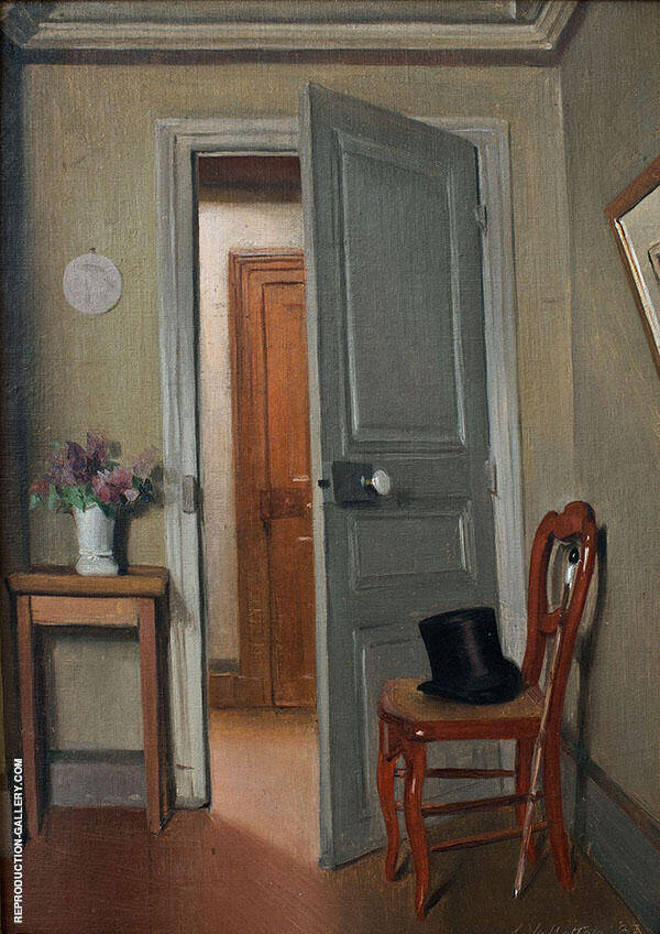 The Top Hat Interior 1887 By Felix Vallotton
